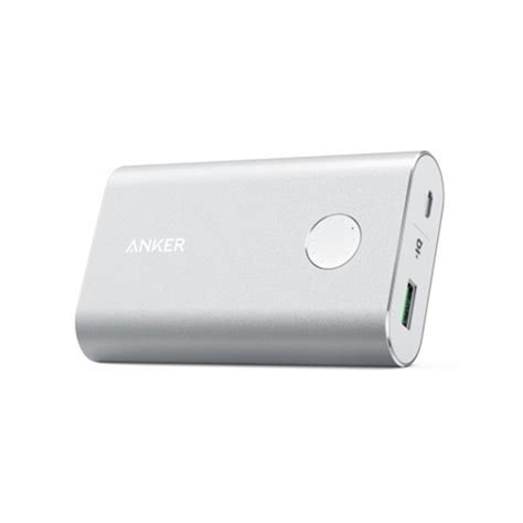 Anker Powercore 10050 Mah With Charge 30 Power Bank Silver al haddad الحداد anker power bank 10050mah with