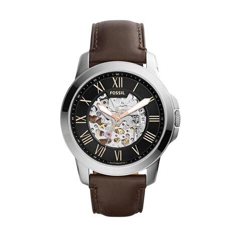 Jam Fossil Grant Beige Brown Leather Fs5152 harga fossil jam tangan pria silver hitam coklat tua me3100 pricenia