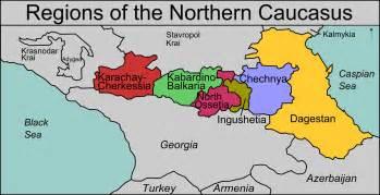 map of caucasus file northern caucasus regions map png
