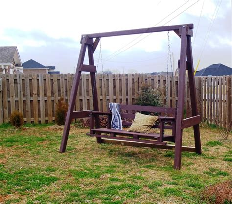 how to build a backyard swing frame lazy liz on less swing set go
