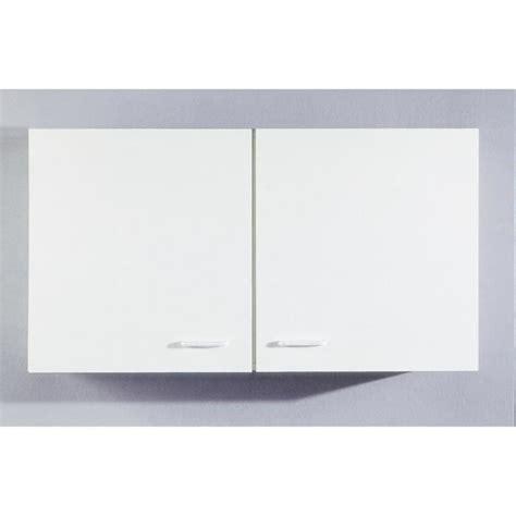 armoire murale cuisine armoire murale cuisine 224 2 portes coloris blanc achat