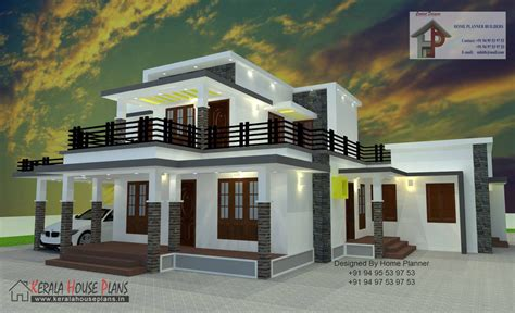 house type 2000 sqft box type house kerala house plans designs