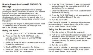 reset oil service light chevrolet impala reset service light reset oil life maintenance