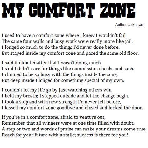 my comfort zone poem comfort zone leadership quotes