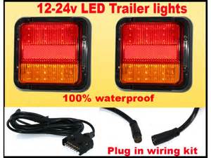 led waterproof trailer lights with wiring kit