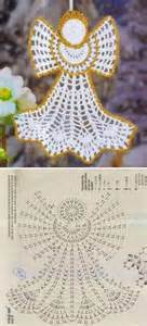 pretty crochet angel christmas ornament pattern crafting by holiday