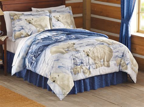 bear comforter reversible arctic polar bear comforter set by collections