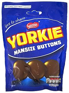 yorkie chocolate buttons nestle yorkie mansize buttons 120g