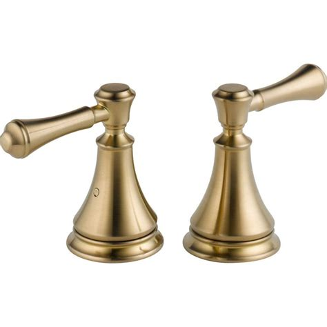 delta chagne bronze hardware delta pair of cassidy lever handles for roman tub
