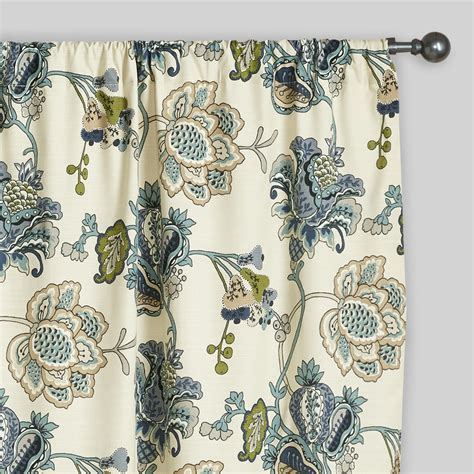 world market drapes floral tatiana sleevetop curtains set of 2 world market