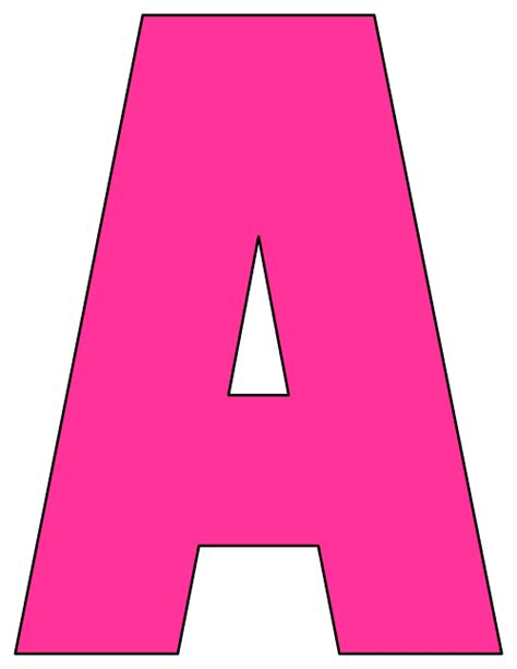 printable letters in pink printable cut out letters