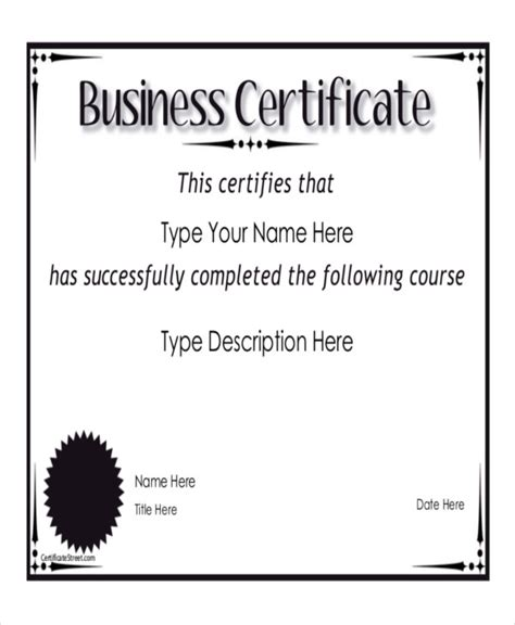 8 Sle Certificate Templates Free Sle Exle Format Download Free Premium Templates Free Business License Template