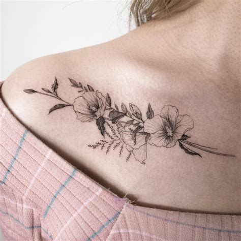 delicate flower tattoo designs delicate floral ilwolhongdam pinteres