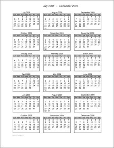 18 month calendar template 10 best images about forms on school calendar