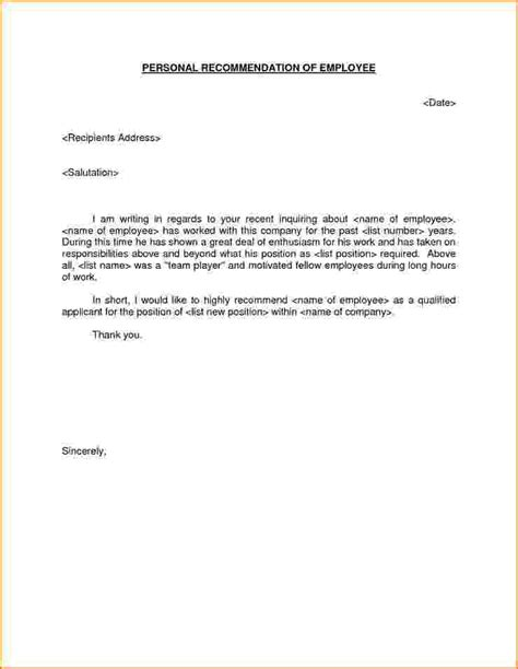 Recommendation Letter Personal 9 How To Write A Personal Letter Of Recommendation Bibliography Format