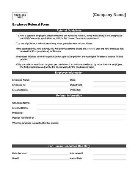 Referral Document Template by 50 Free Microsoft Word Resume Templates For