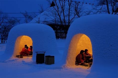 igloo house try japanese igloos in yokote city s yuki matsuri