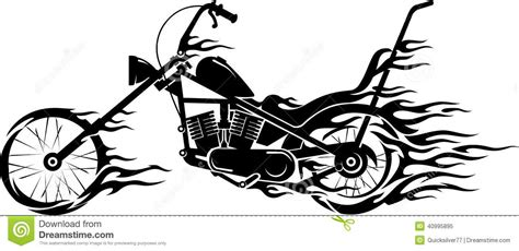 vintage motorcycle flame stock vector image 40995895