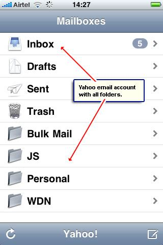 yahoo email going to trash iphone get yahoo email on your iphone instructions with screenshots
