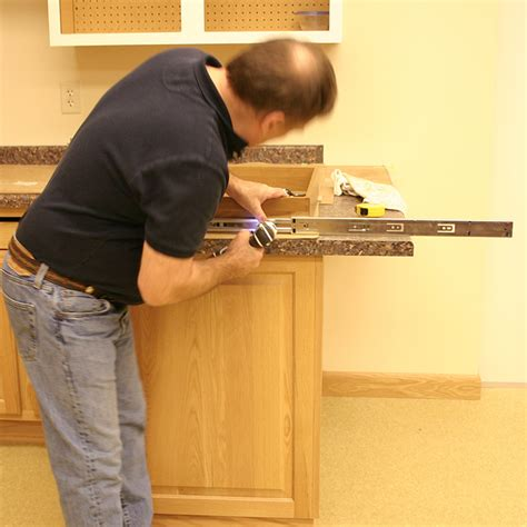 Undermount Drawer Slide Installation by Drawer Slides Drawer Slide Installation