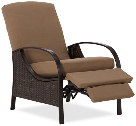 Furniture Lovely Reclining Patio Chairs Reclining Patio