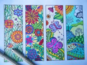 zentangle bookmark flowers to print and color coloring page