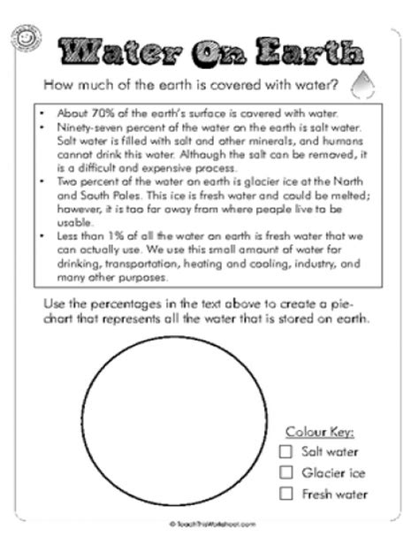 Water Worksheet by Teach This Worksheets Create And Customise Your Own