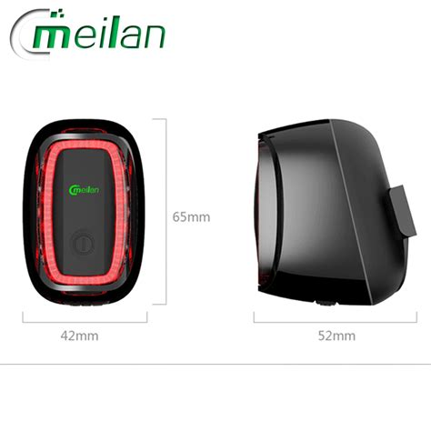 Meilan X6 Lu Sepeda Rechargeable Bicycle Smart Taillight meilan x6 bike light bicycle light 6modes 900mah rechargeable working 36hours mtb bike