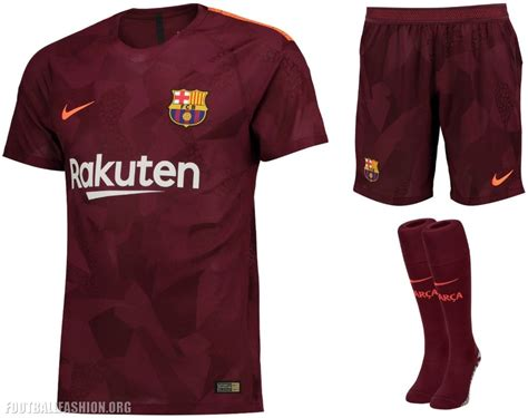 barcelona kit 2018 fc barcelona 2017 18 nike third kit football fashion org