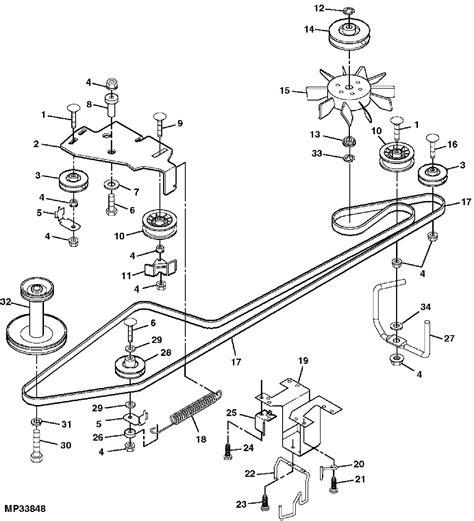 deere belt diagram deere lt133 deck belt diagram free engine