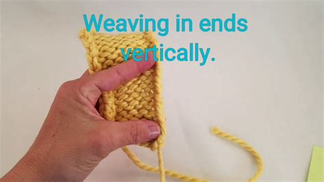 weaving in ends in knitting weaving ends vertically in knitting my crafts and diy