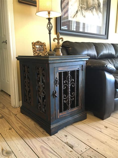 kennel end table custom kennel crate end table solid wood