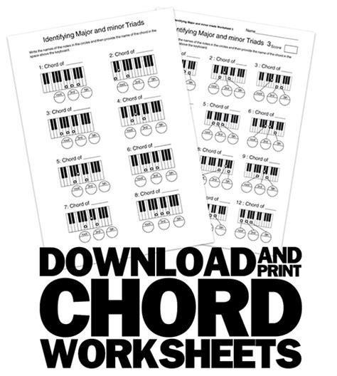 chord worksheets 300 pdf printable theory worksheets