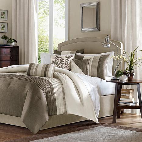 hsn comforters madison park amherst comforter set queen natural 7198127
