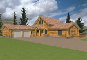Log Cabin Home Plans 2115 Sq Ft Log Home Design Coast Mountain Log Homes