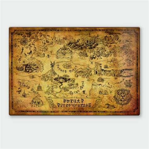 legend of zelda map for sale nintendo legend of zelda map chromalux high gloss metal