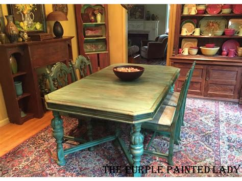 Painting Dining Room Table Dining Table The Purple Painted