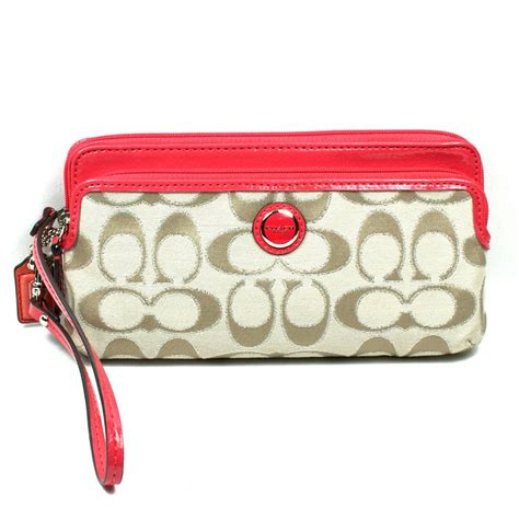 poppy wallet coach poppy signature multi c wallet wristlet clutch