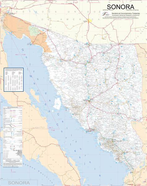mapa de sonora mexico carreteras de la republica mexicana mapa