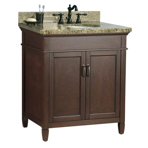 Home Depot Granite Vanity Top by Foremost Ashburn 31 In W X 22 In D Bath Vanity In