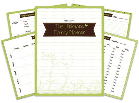 printable family organizer the ultimate family planner binder