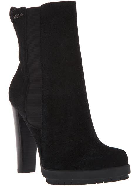 calvin klein ankle boot  black lyst