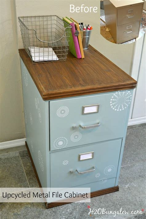 Wood Trimmed Filing Cabinet Makeover H20bungalow Diy Wood File Cabinet