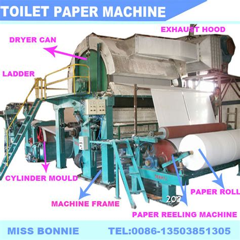 Toilet Paper Process - 1092mm 3t d toilet paper roll machine waste paper