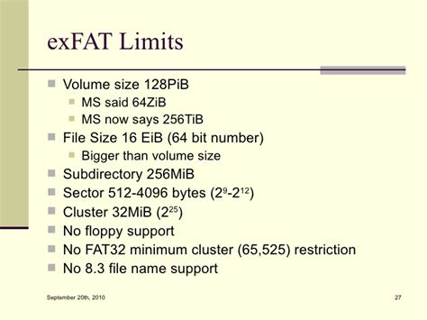 Exfat Format Size Limit | demystifying the microsoft extended fat file system exfat