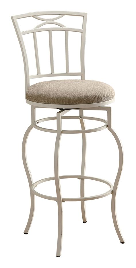 Metal And Fabric Bar Stools by Coaster 122050 Swivel Metal And Beige Fabric Bar Stool