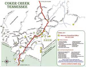 Maps directions amp weather for tellico plains tn and coker creek tn