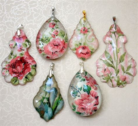 decoupage pendant tutorial chandelier crystal and vintage wallpaper pendant tutorial