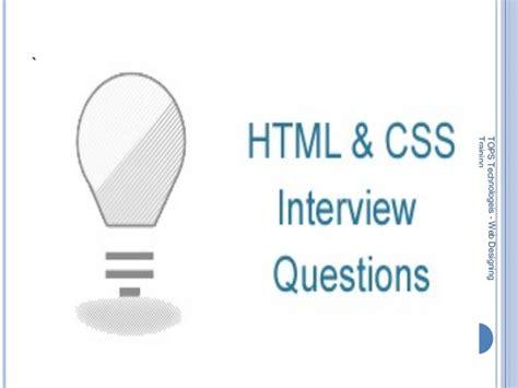 html design interview questions gtu web designing interview questions and answers for freshers