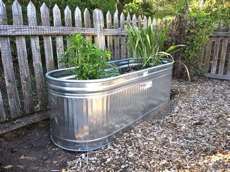 galvanized water tanks  planters trough planters